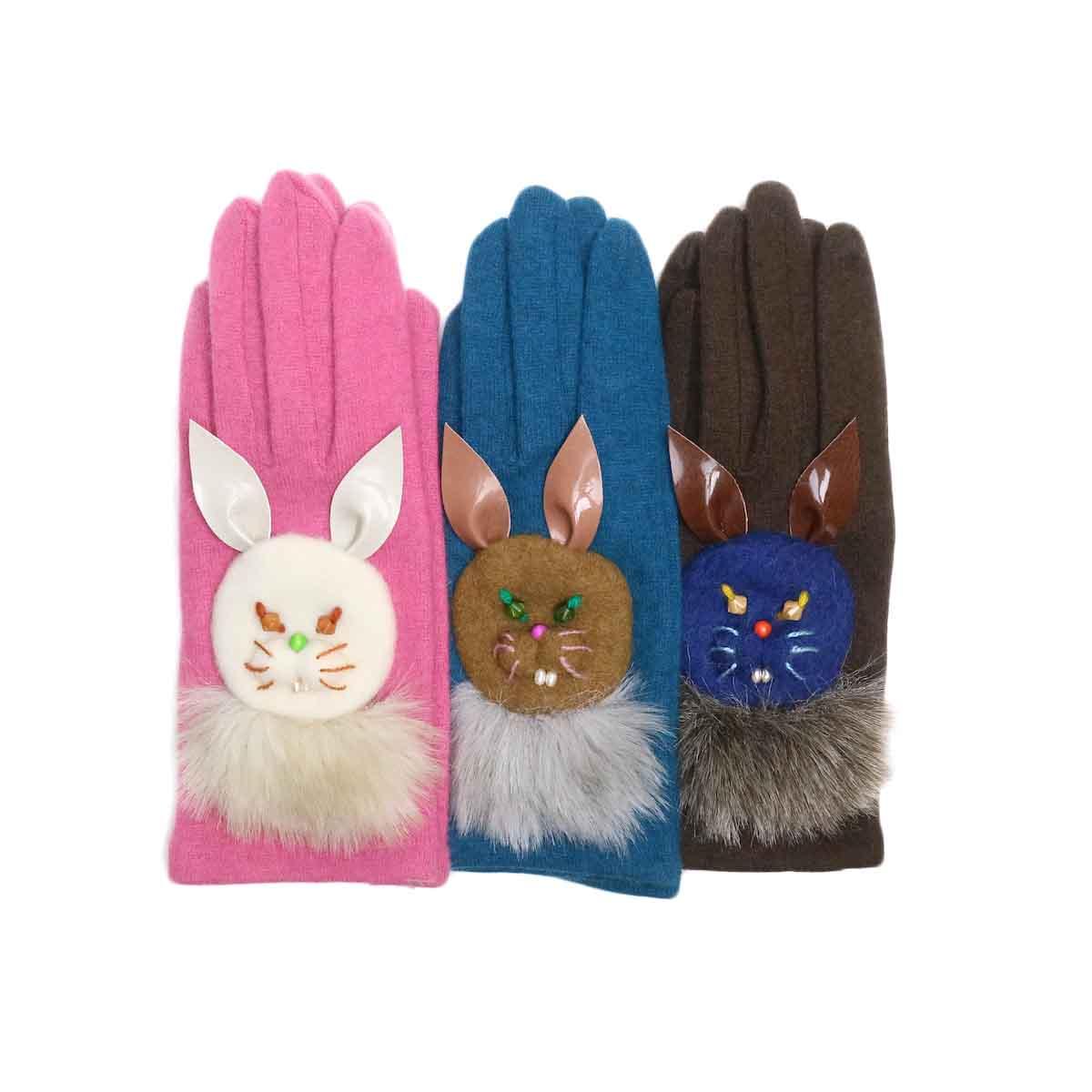 wool,cube,wool ! / アニマルグローブ (ウサギ)