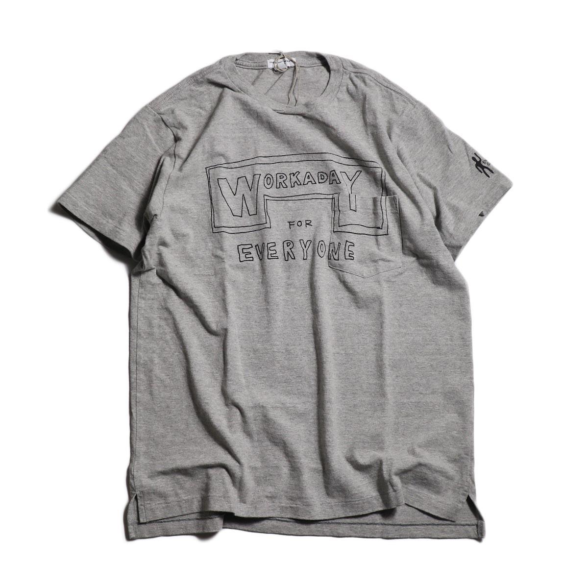 Engineered Garments Workaday / Printed C/N Tee -Everyone -Gray