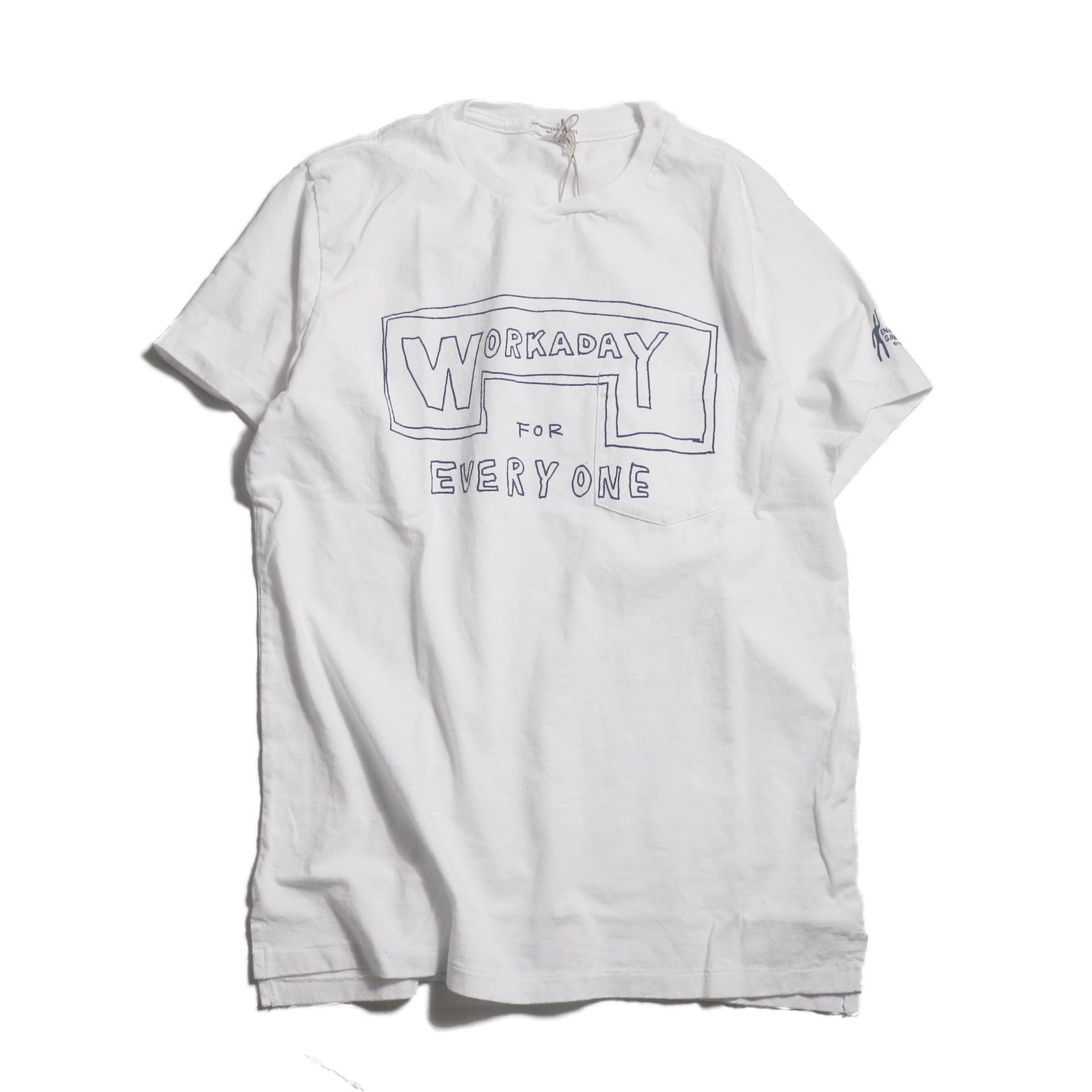 Engineered Garments Workaday / Printed C/N Tee -Everyone -White