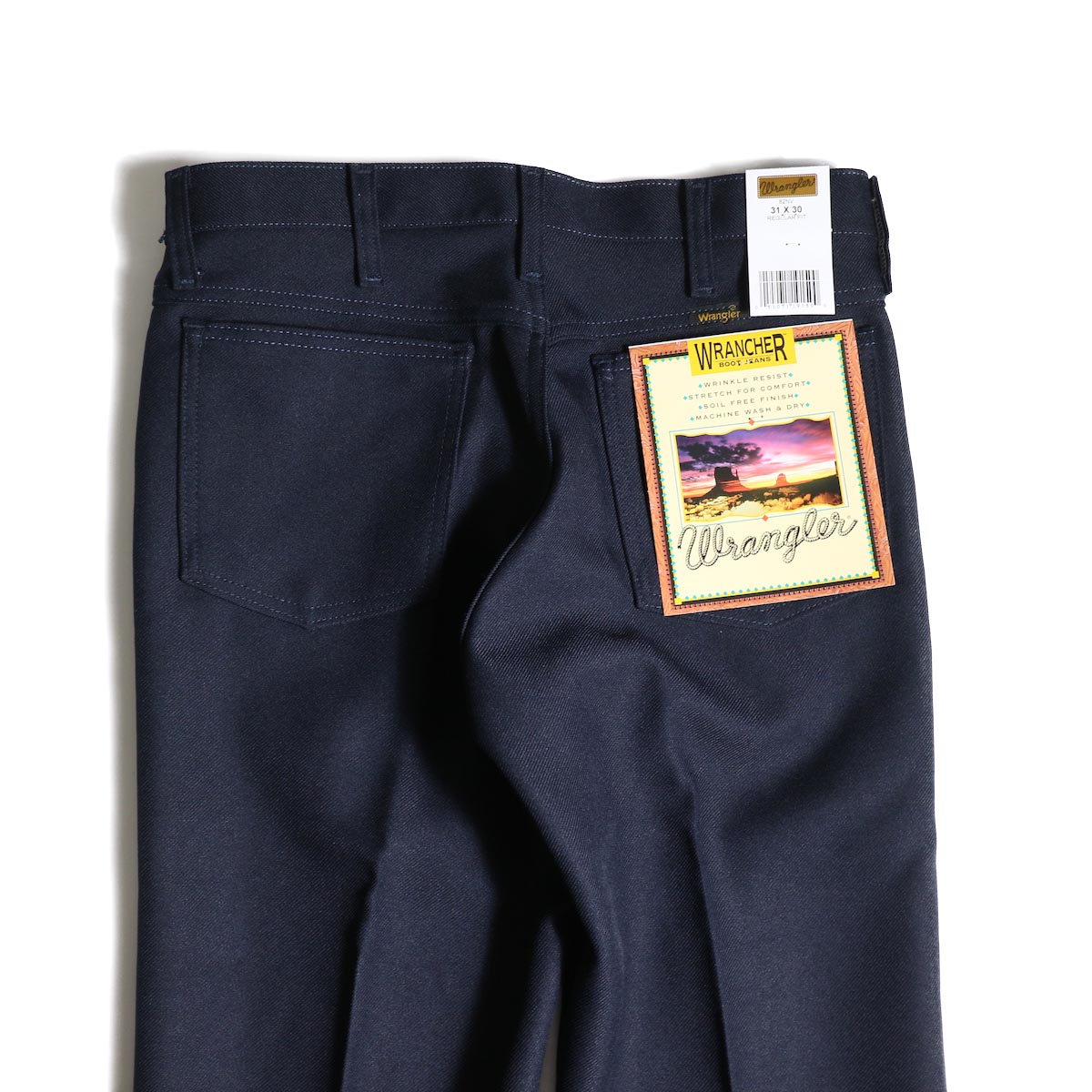 Wrangler / WRANCHER DRESS JEANS (Navy)ヒップポケット