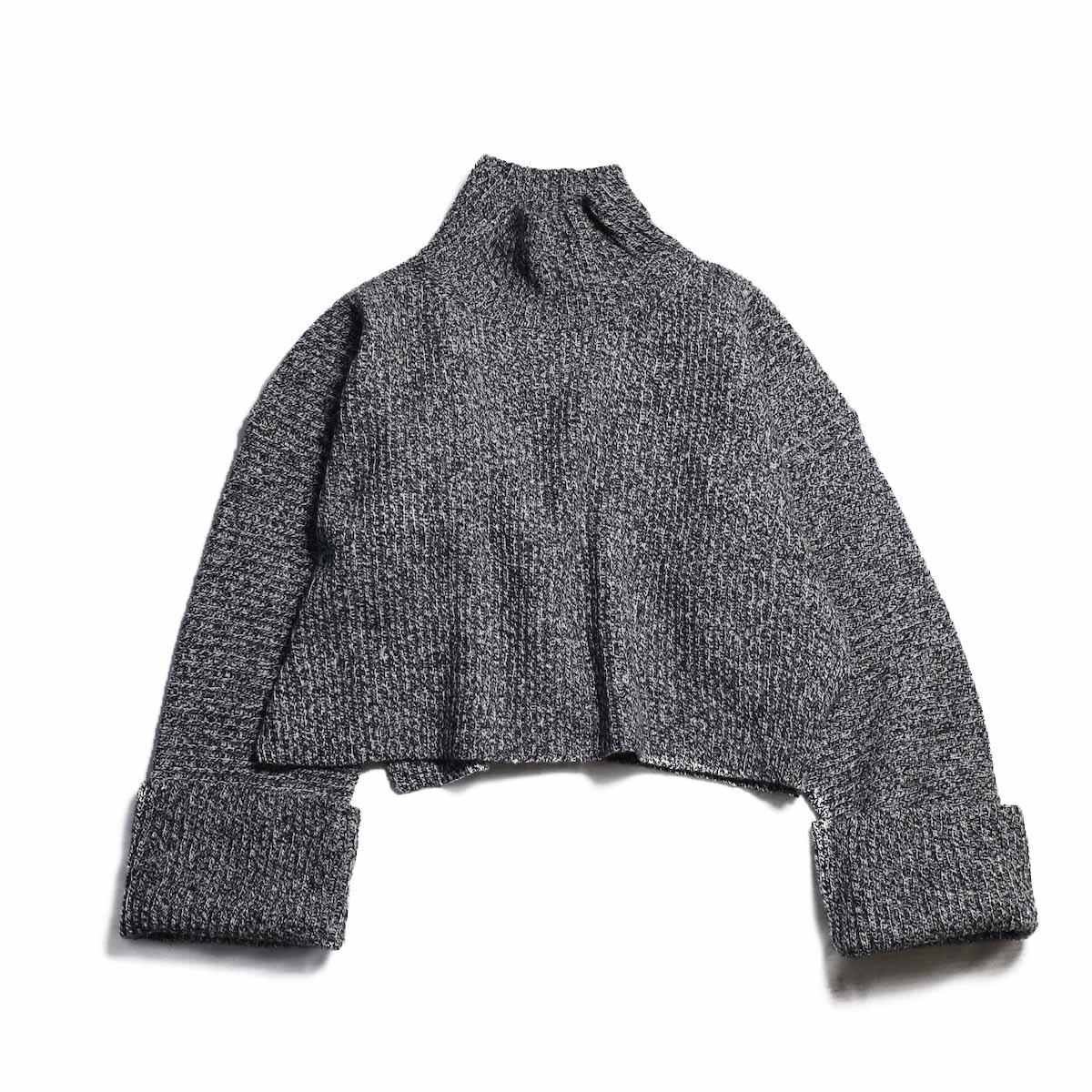 YLEVE / Woolen Rib Kn Turtlneck P/O -GREY