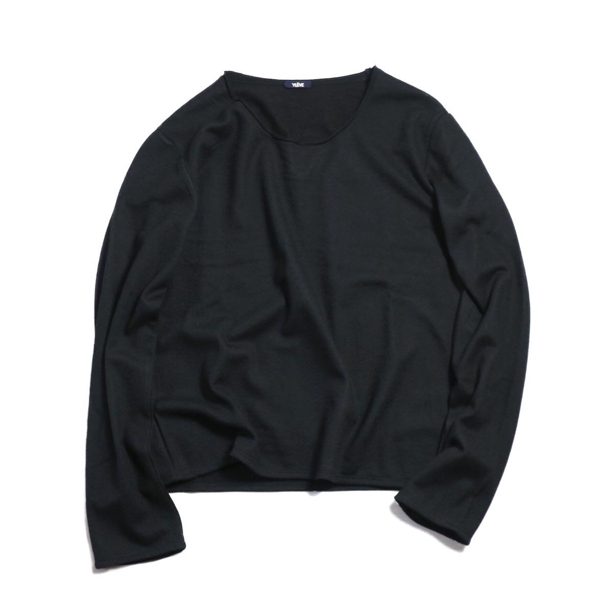 YLEVE / W/C Milled L/S T -BLACK