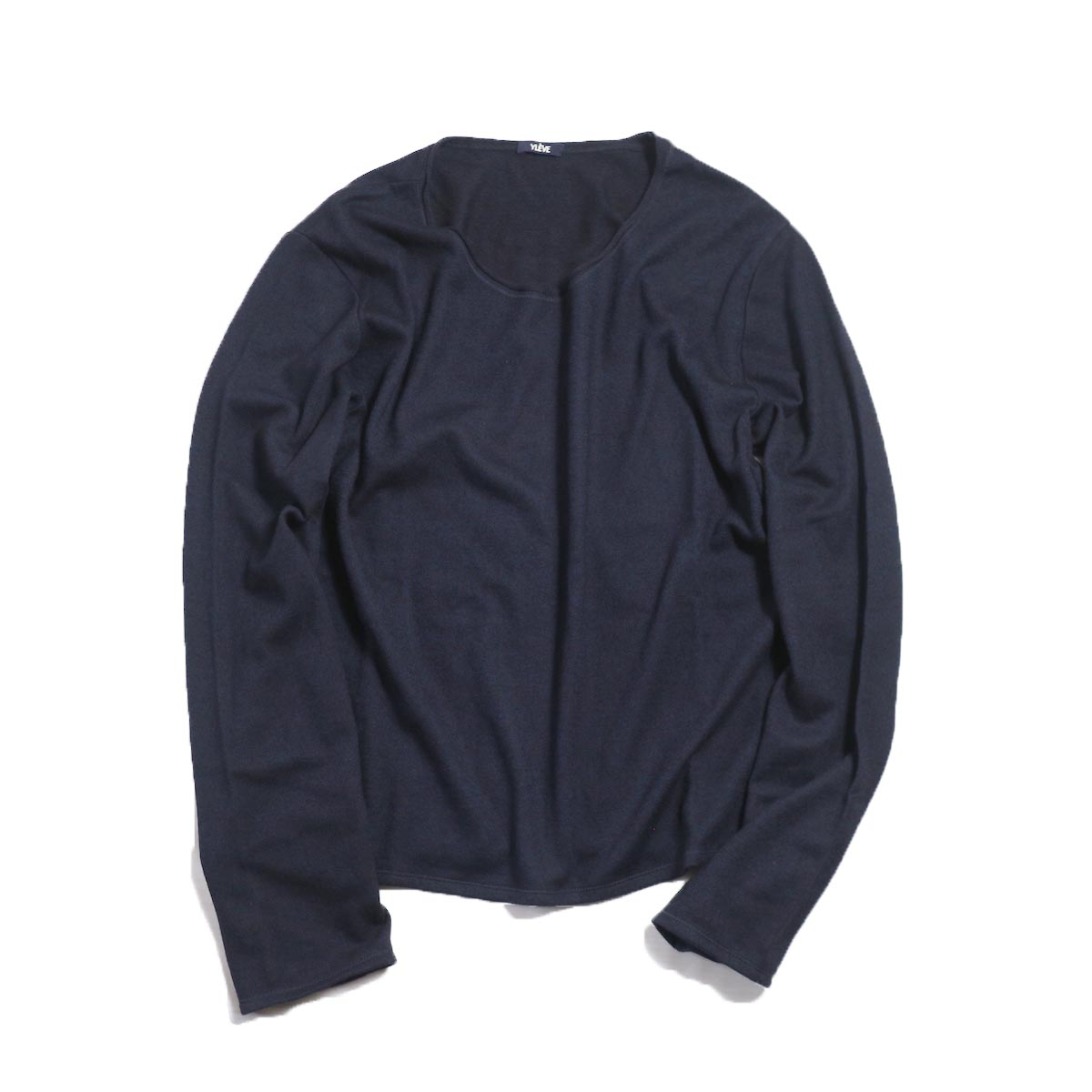 YLEVE / W/C Milled L/S T -NAVY