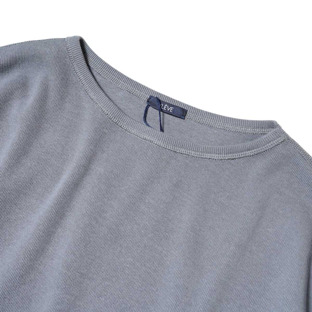 YLEVE / CTN RIB P/O BIG (Grey) ネック