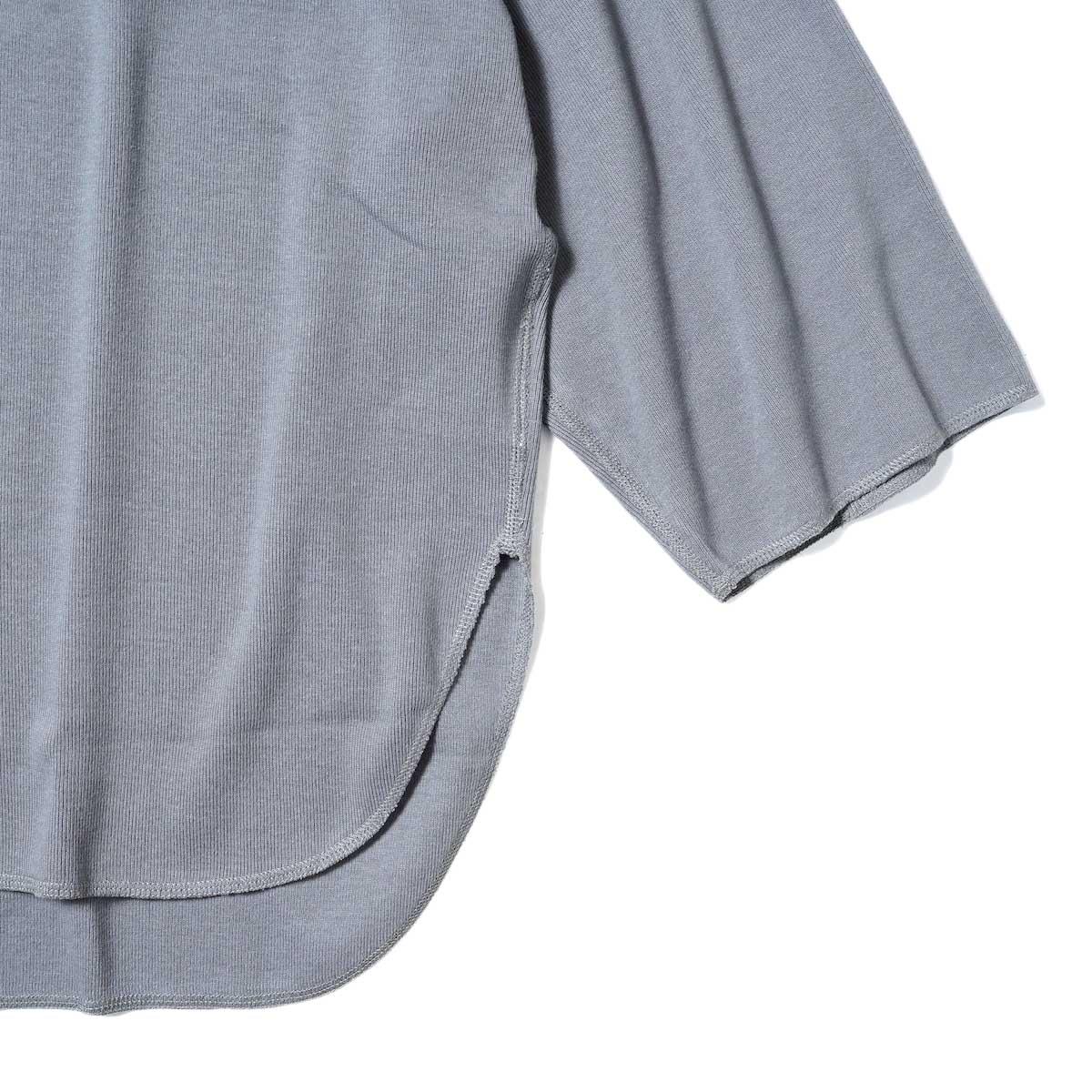 YLEVE / CTN RIB P/O BIG (Grey) 袖・裾
