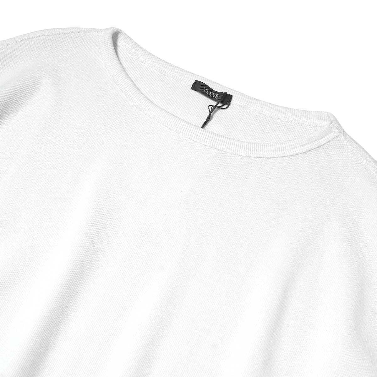 YLEVE / CTN RIB P/O BIG (White) ネック