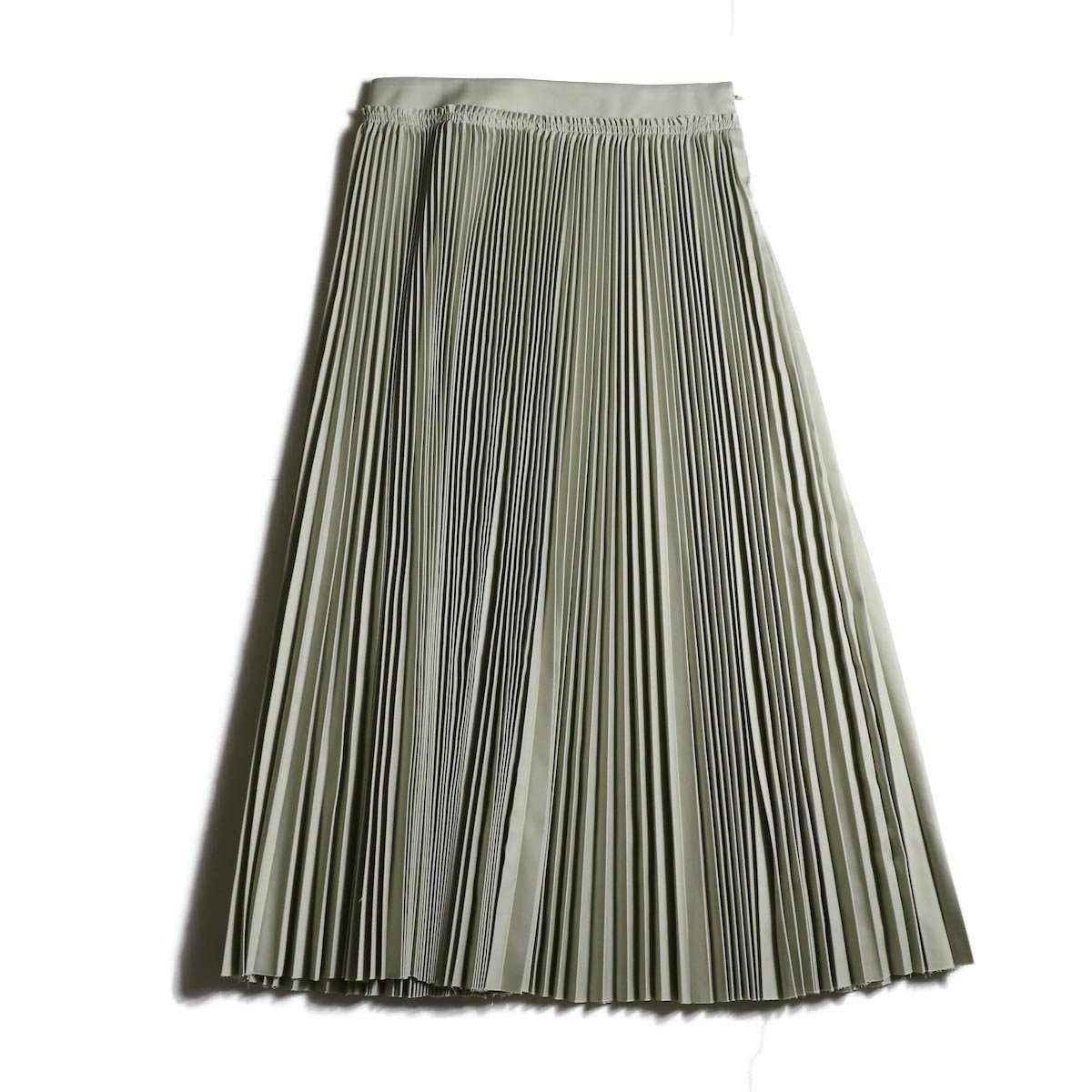 YLEVE / Chino Pleats Skirt (Sage)