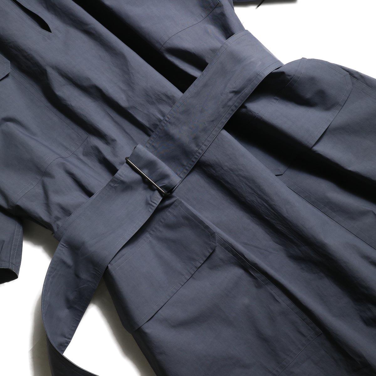 YLEVE / COTTON TYPEWRITER OP (Blue Gray)ベルト、ポケット