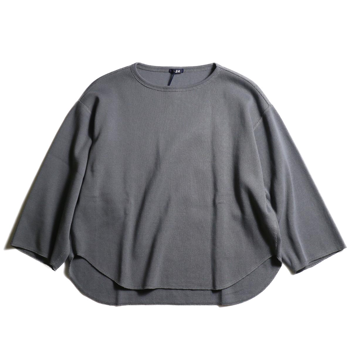 YLEVE / Cotton Rib Pullover (Slate Gray)正面