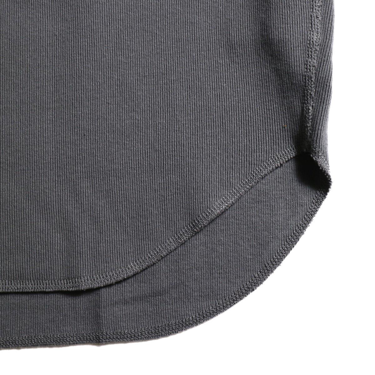 YLEVE / Cotton Rib Pullover (Slate Gray)裾