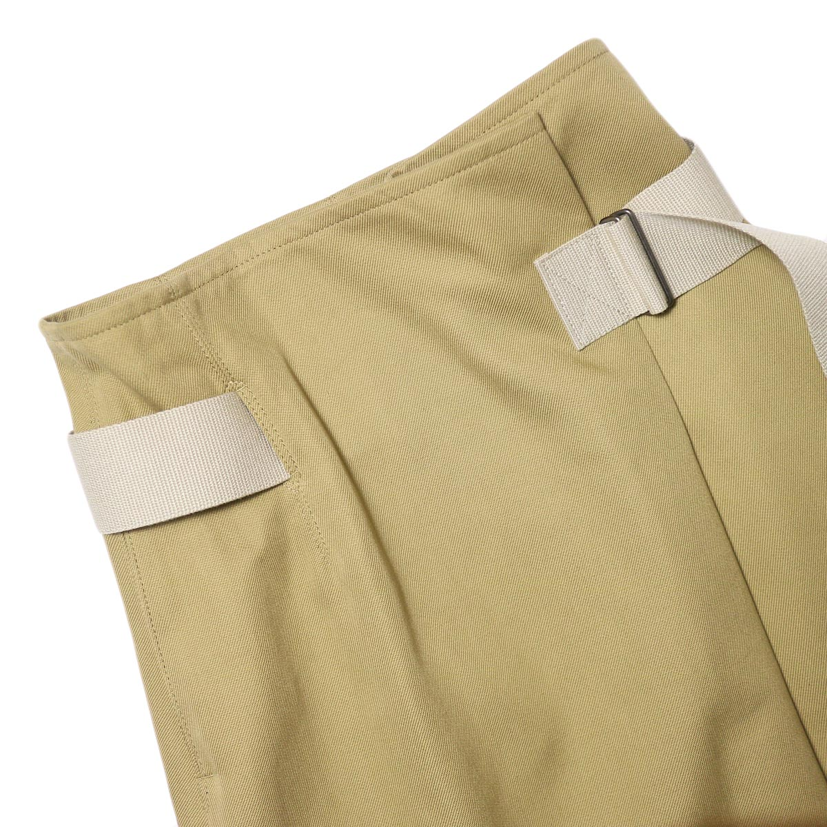 YLEVE / ELS COTTON DOUBLE CLOTH SKIRT (khaki) ウエスト