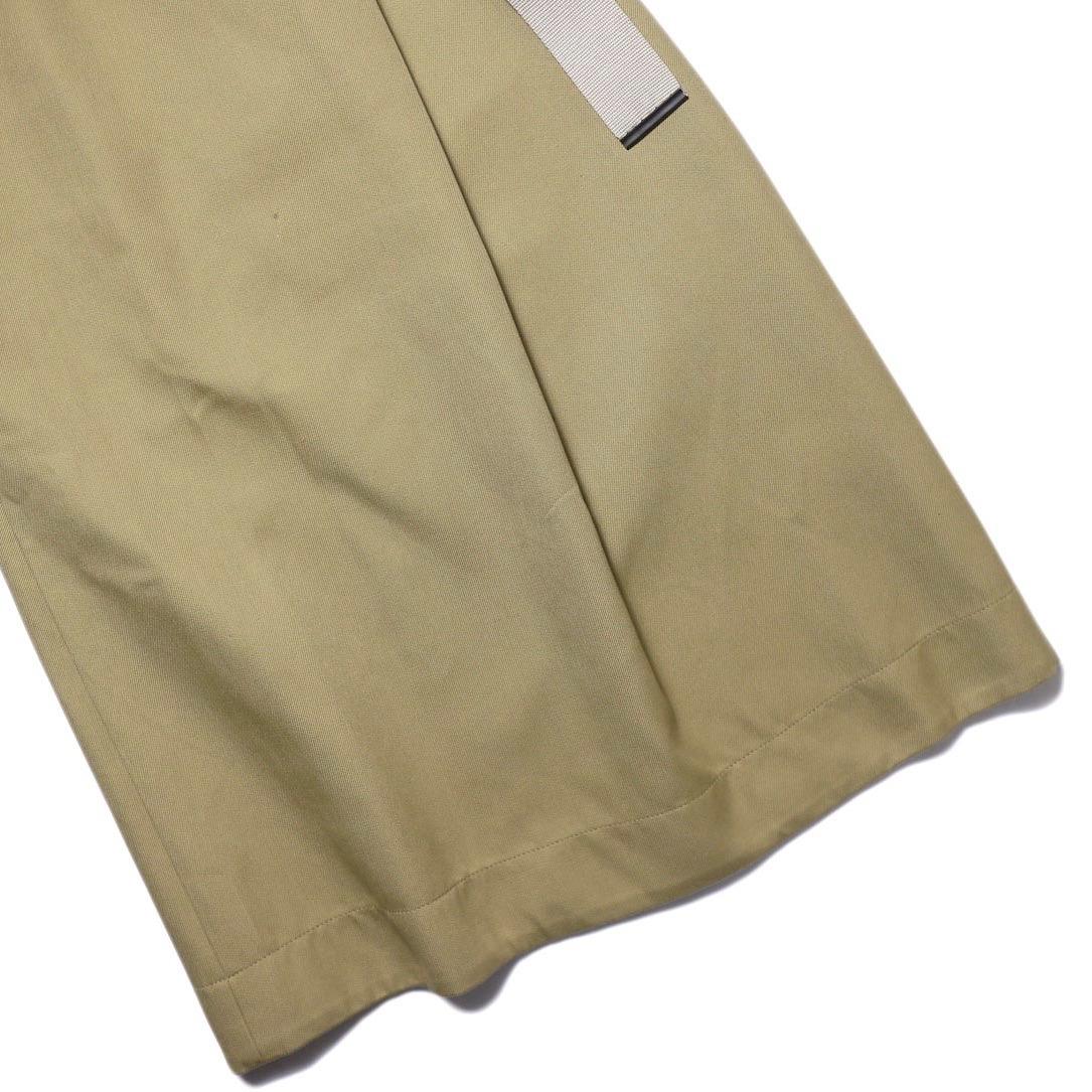 YLEVE / ELS COTTON DOUBLE CLOTH SKIRT (khaki) 裾