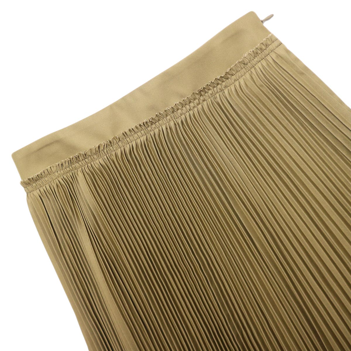 YLEVE / CHINO PLEATS SKIRT (beige) ウエスト