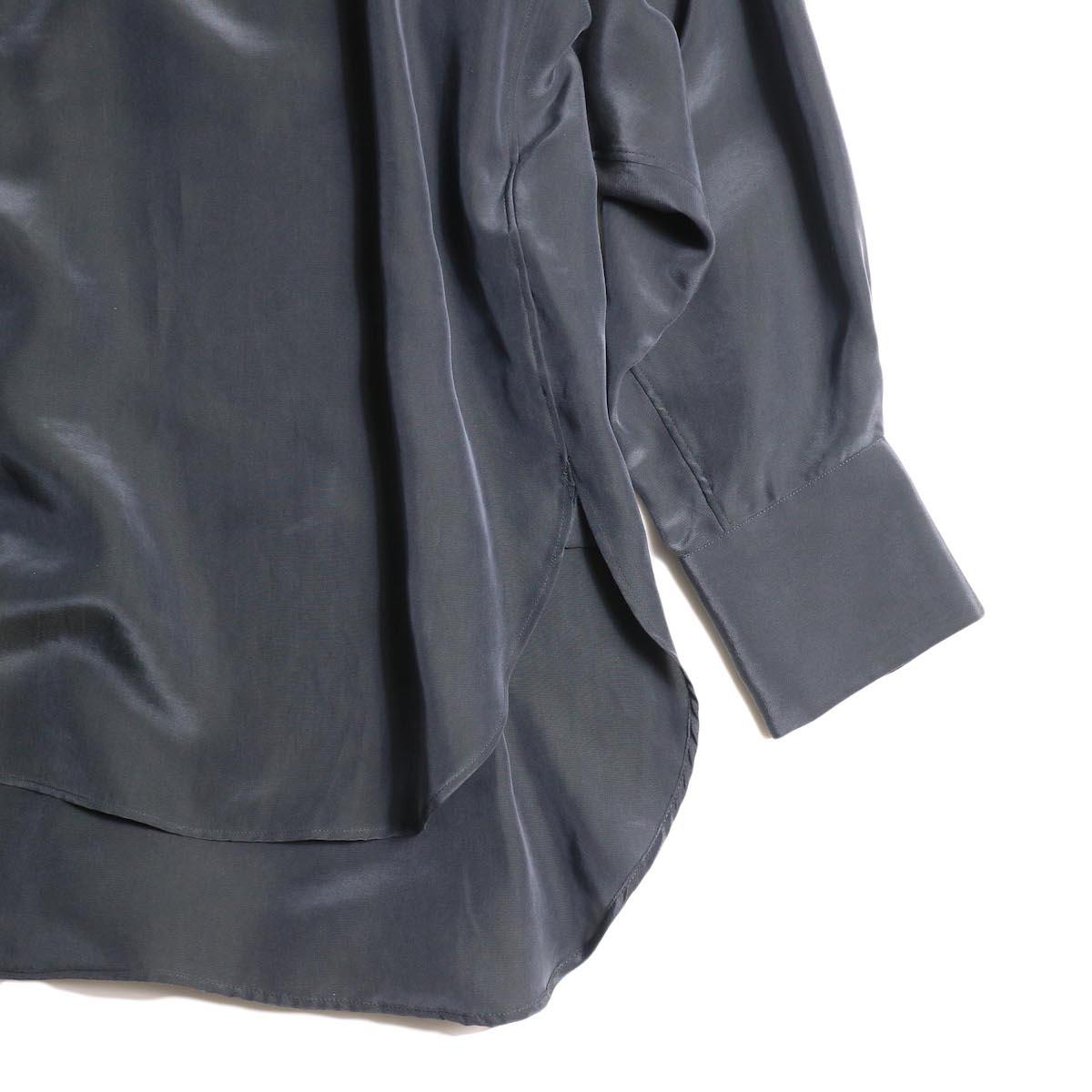 YLEVE / SILK CUPRA SUEDE BL (charcoal) 袖