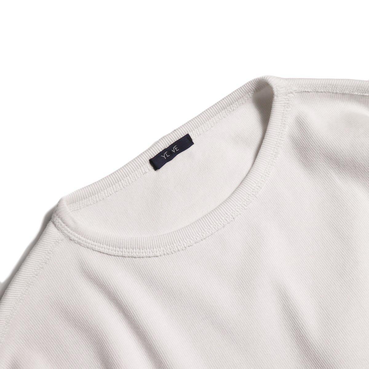 YLEVE / CTN RIB P/O (White) バインダーネック