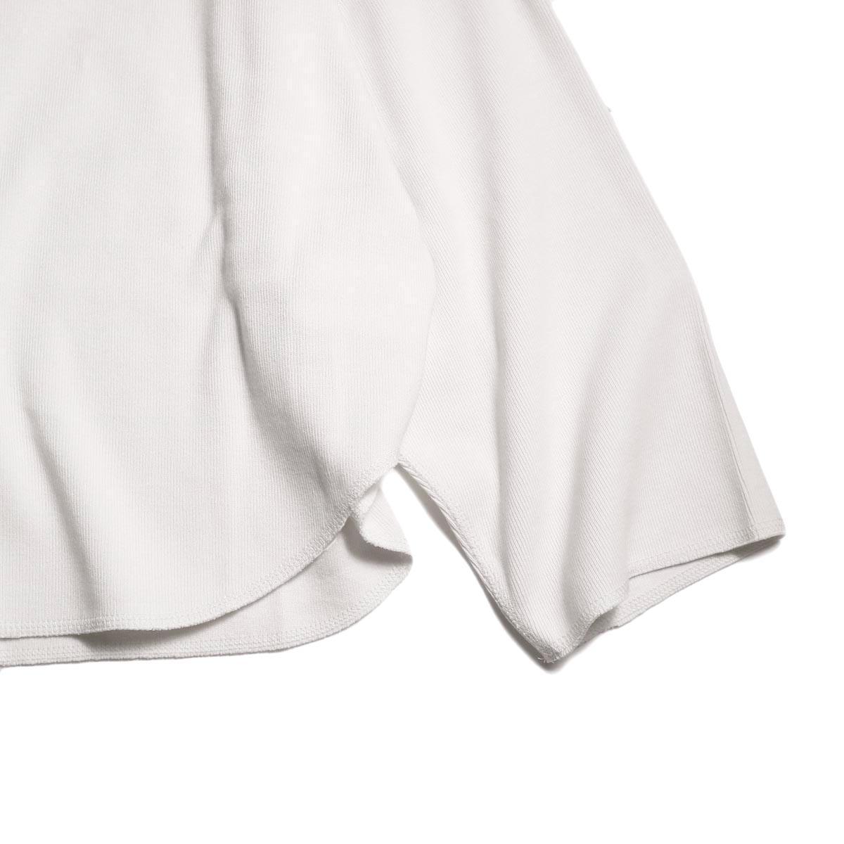 YLEVE / CTN RIB P/O (White) 裾、オーバーロック