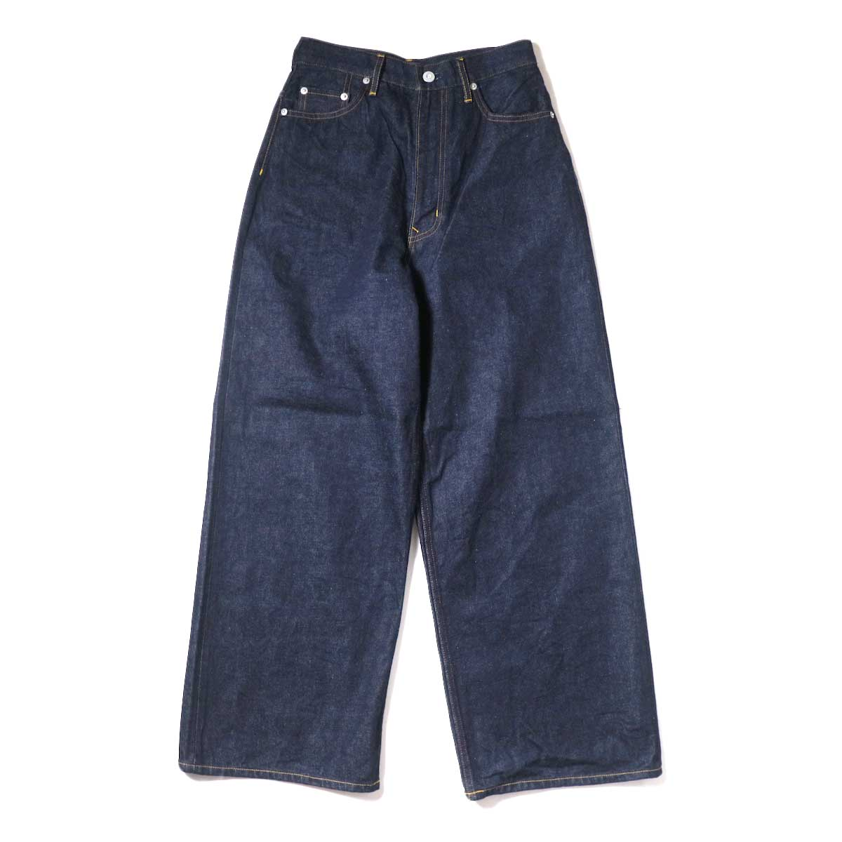 YLEVE / 13.5oz DENIM HIGH WEST WIDE (Indigo) 正面
