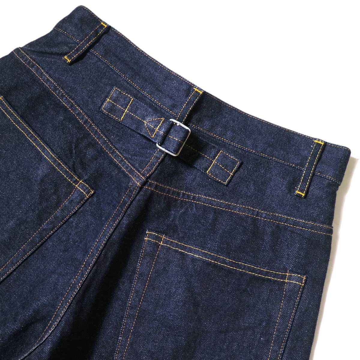 YLEVE / 13.5oz DENIM HIGH WEST WIDE (Indigo) ウエスト背面