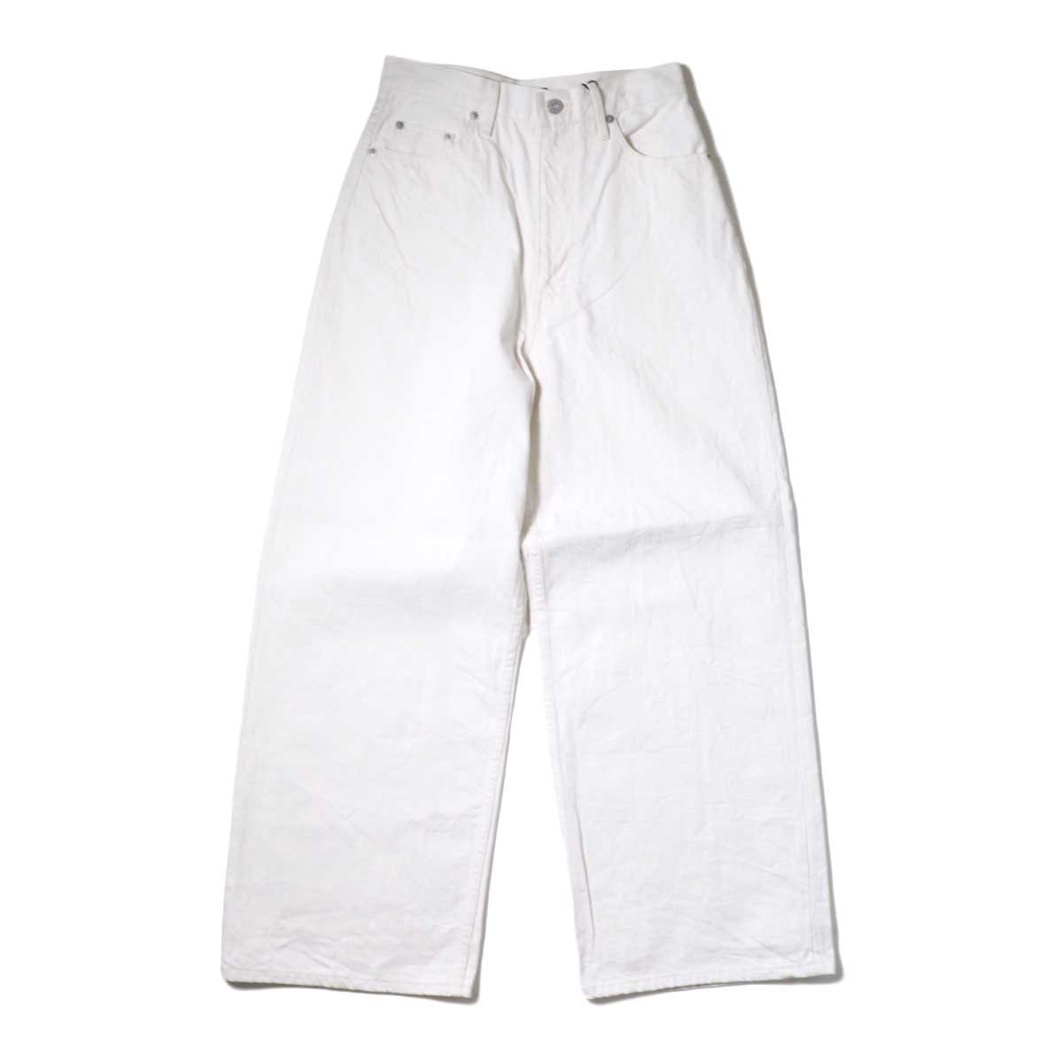 YLEVE / 13.5oz DENIM HIGH WEST WIDE (White)