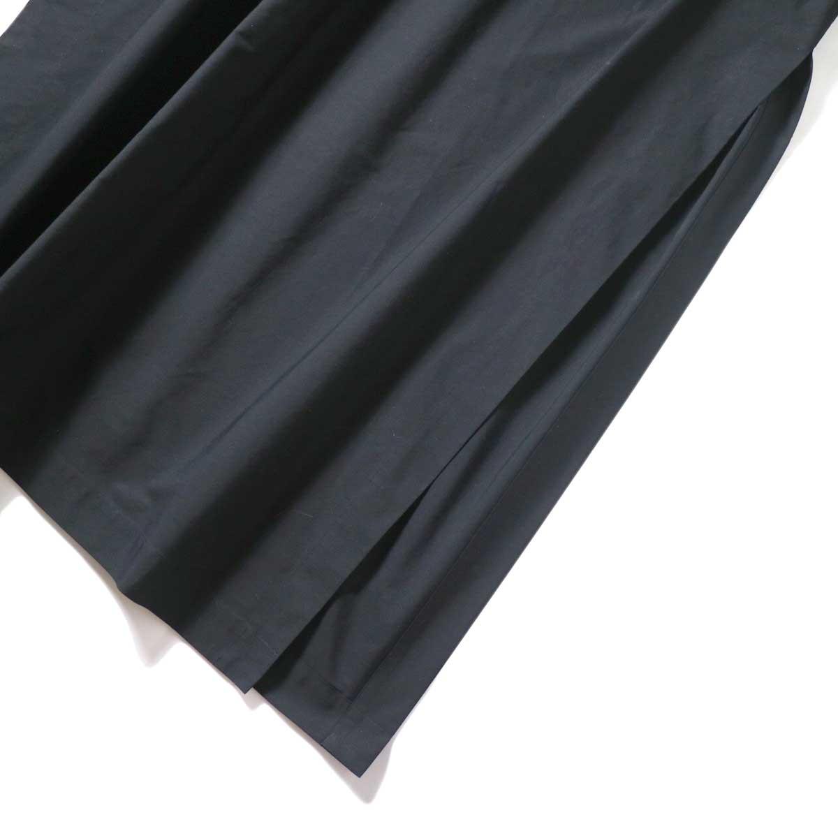 YLEVE / COTTON TYPEW RITER LONG KAFTAN SHIRT (Black) 裾