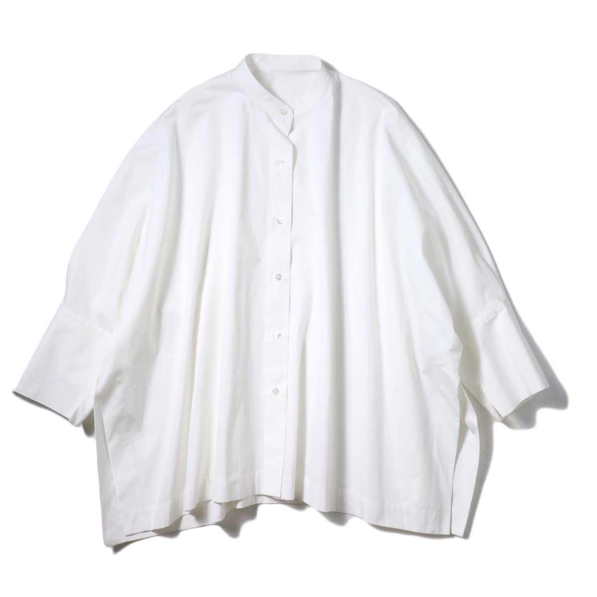 YLEVE / COTTON TYPEW RITER BIG SHIRT (White)