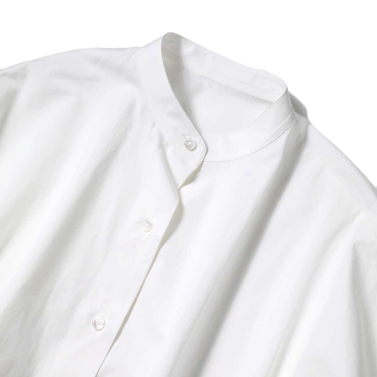 YLEVE / COTTON TYPEW RITER BIG SHIRT (White) 襟