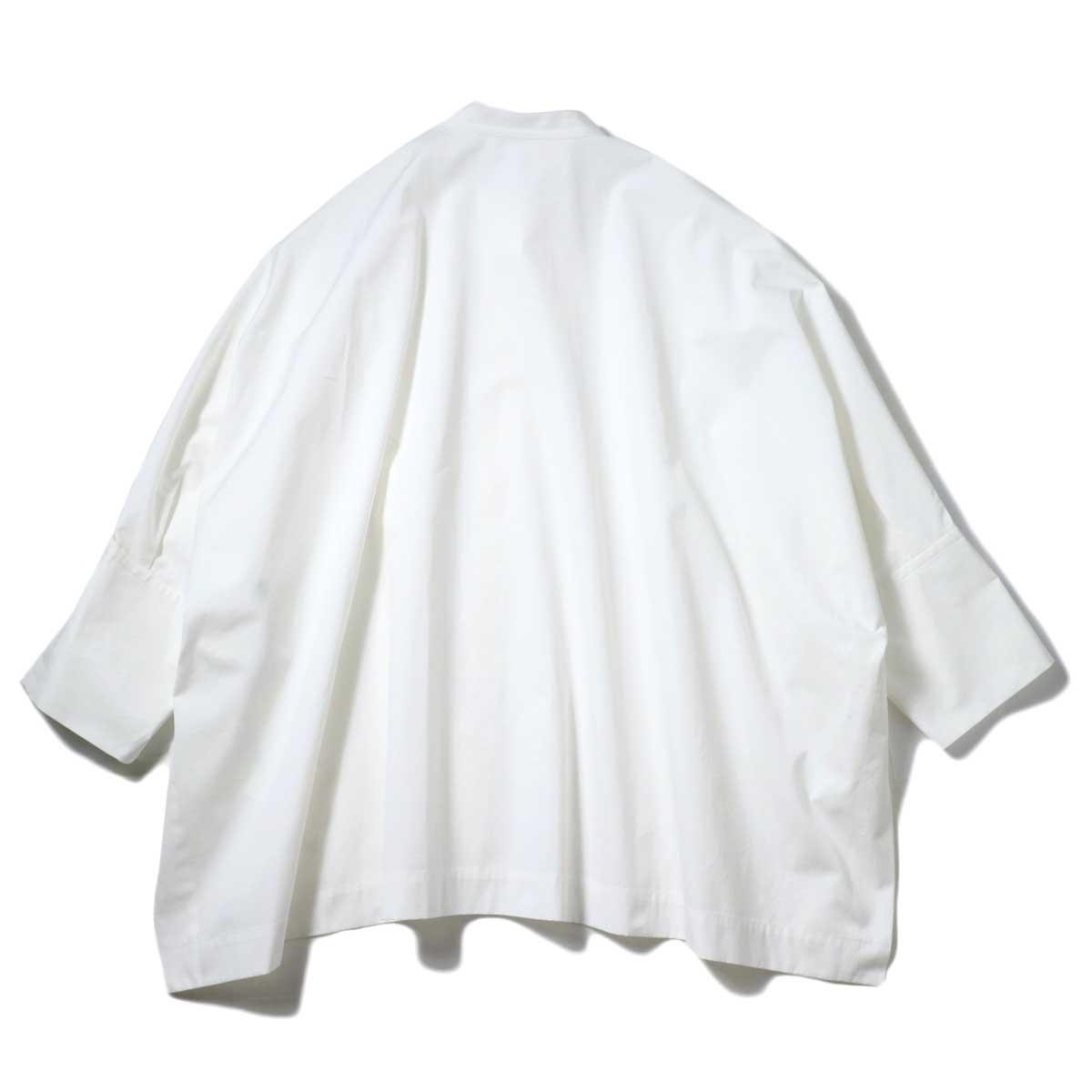 YLEVE / COTTON TYPEW RITER BIG SHIRT (White) 背面