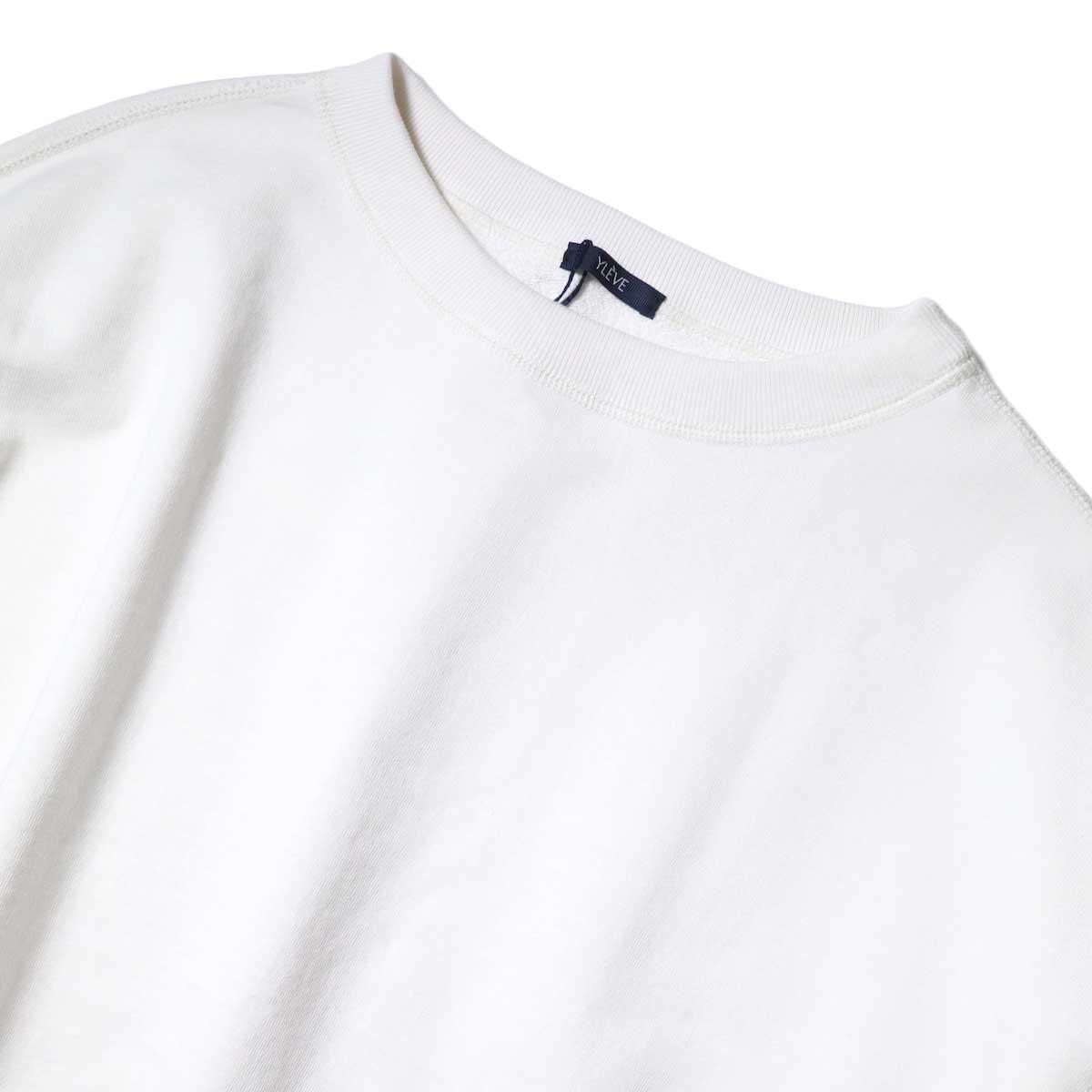 YLEVE / SUVIN CTN CUTOFF BIG (White) ネック