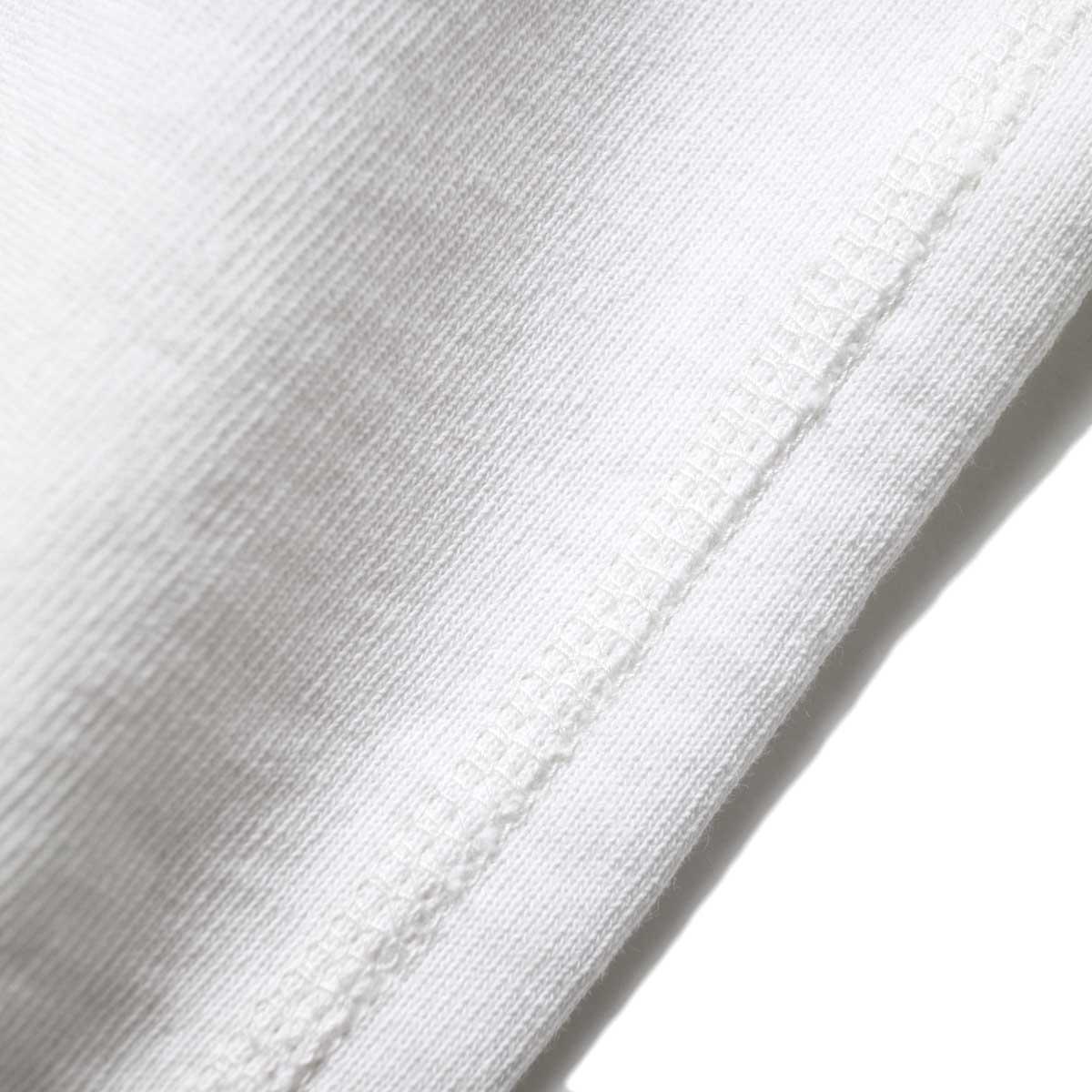 YLEVE / SUVIN CTN CUTOFF BIG (White) 生地アップ