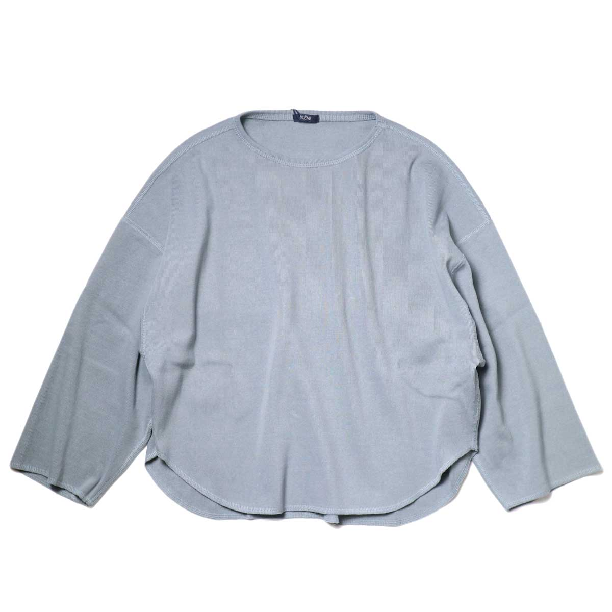 YLEVE / Cotton Rib Pullover (Fog Green) 正面