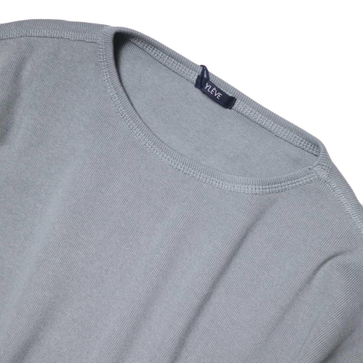 YLEVE / Cotton Rib Pullover (Fog Green) 襟