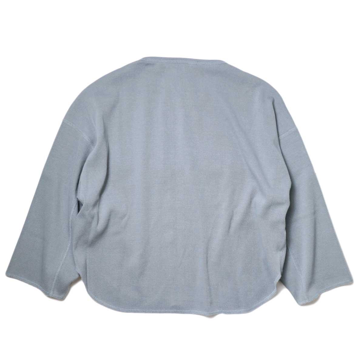YLEVE / Cotton Rib Pullover (Fog Green) 背面