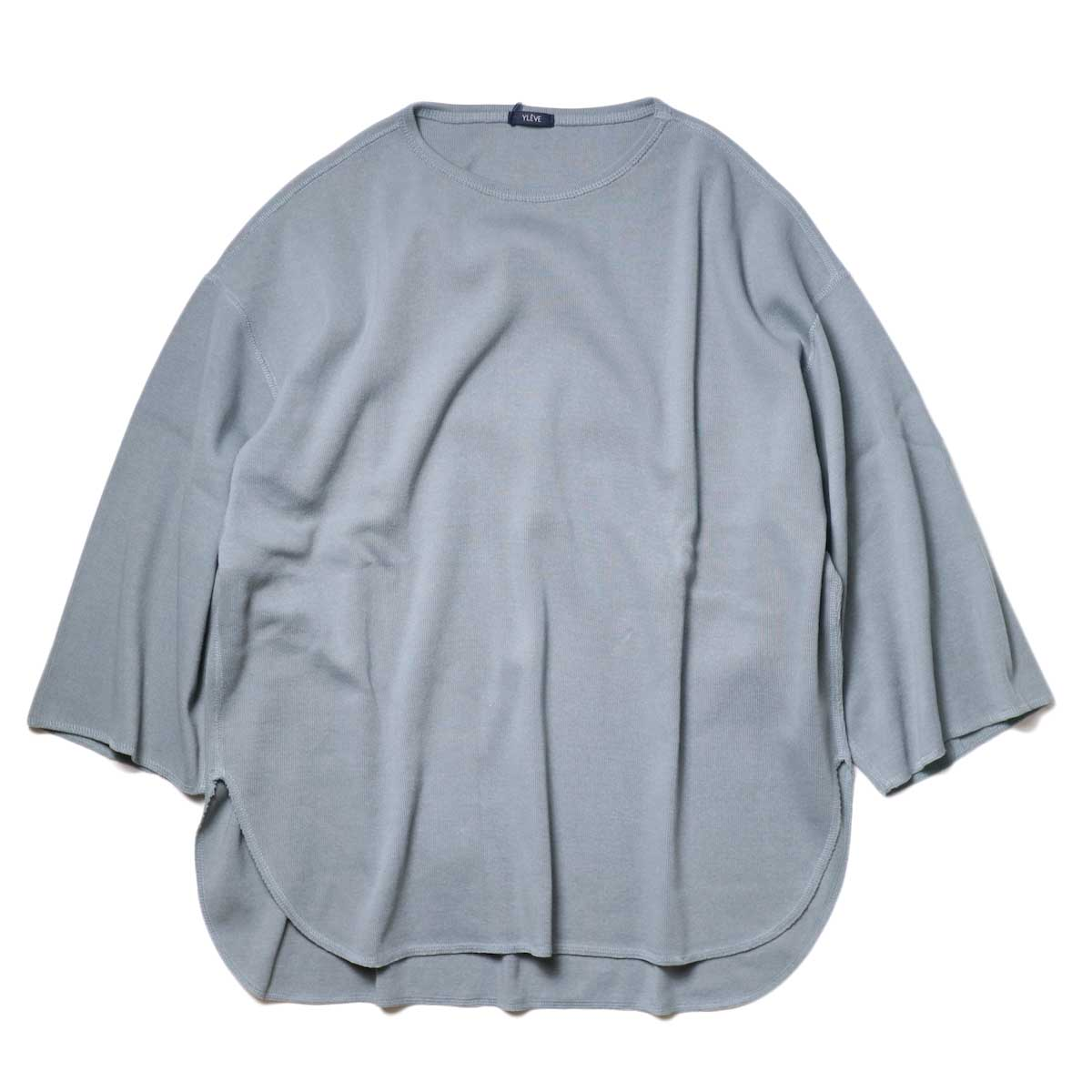 YLEVE / Cotton Rib Pullover Big (Fog Green) 正面