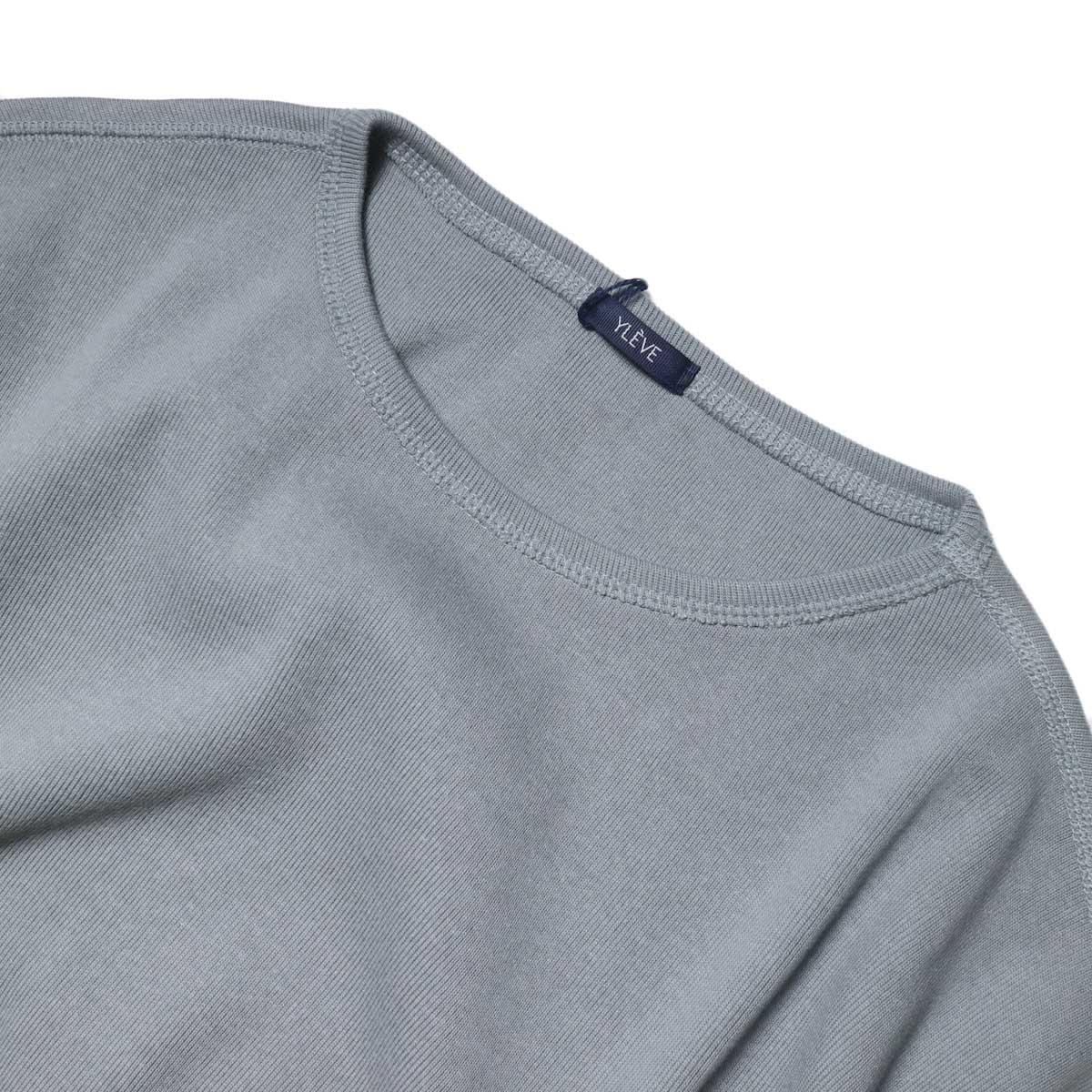 YLEVE / Cotton Rib Pullover Big (Fog Green) 襟