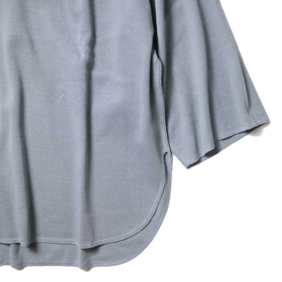 YLEVE / Cotton Rib Pullover Big (Fog Green) 袖・裾