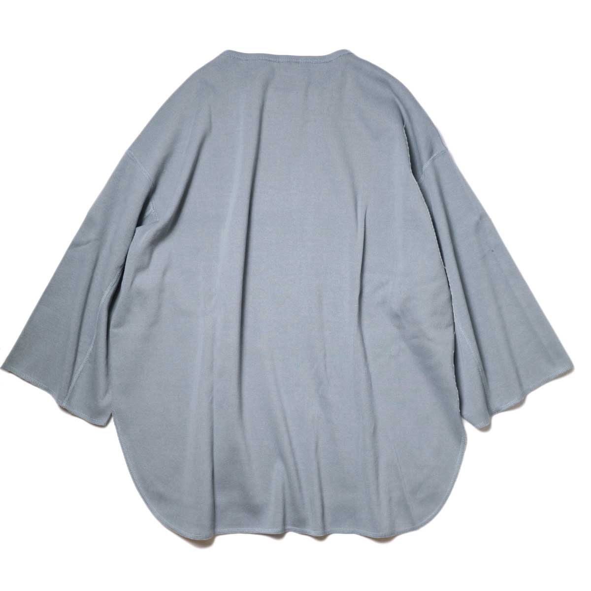 YLEVE / Cotton Rib Pullover Big (Fog Green) 背面