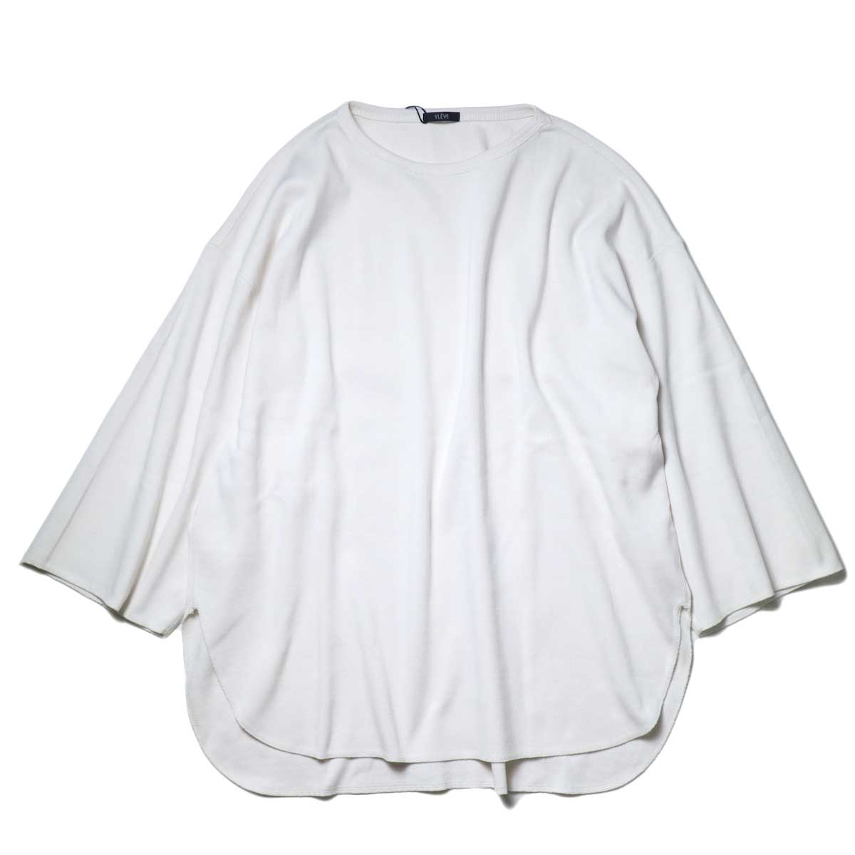 YLEVE / Cotton Rib Pullover Big (White) 表面