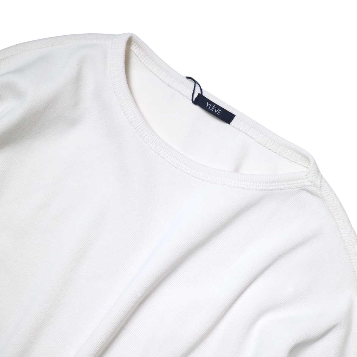 YLEVE / Cotton Rib Pullover Big (White) 襟