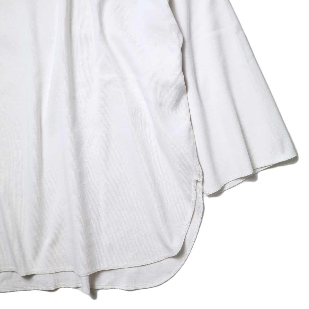 YLEVE / Cotton Rib Pullover Big (White) 袖・裾