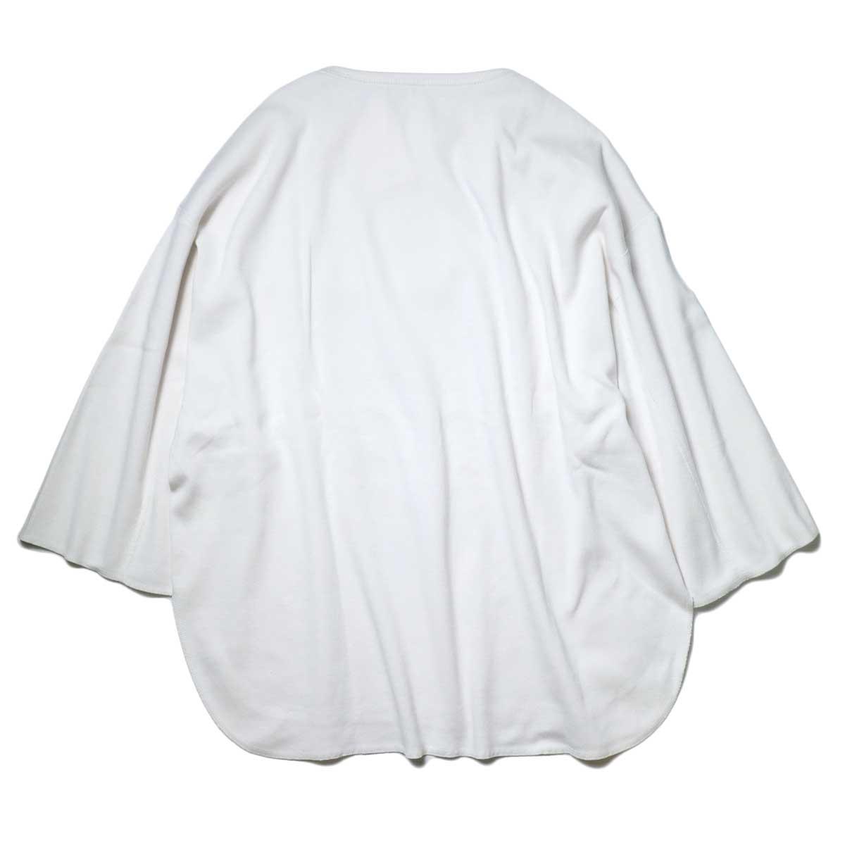 YLEVE / Cotton Rib Pullover Big (White) 背面