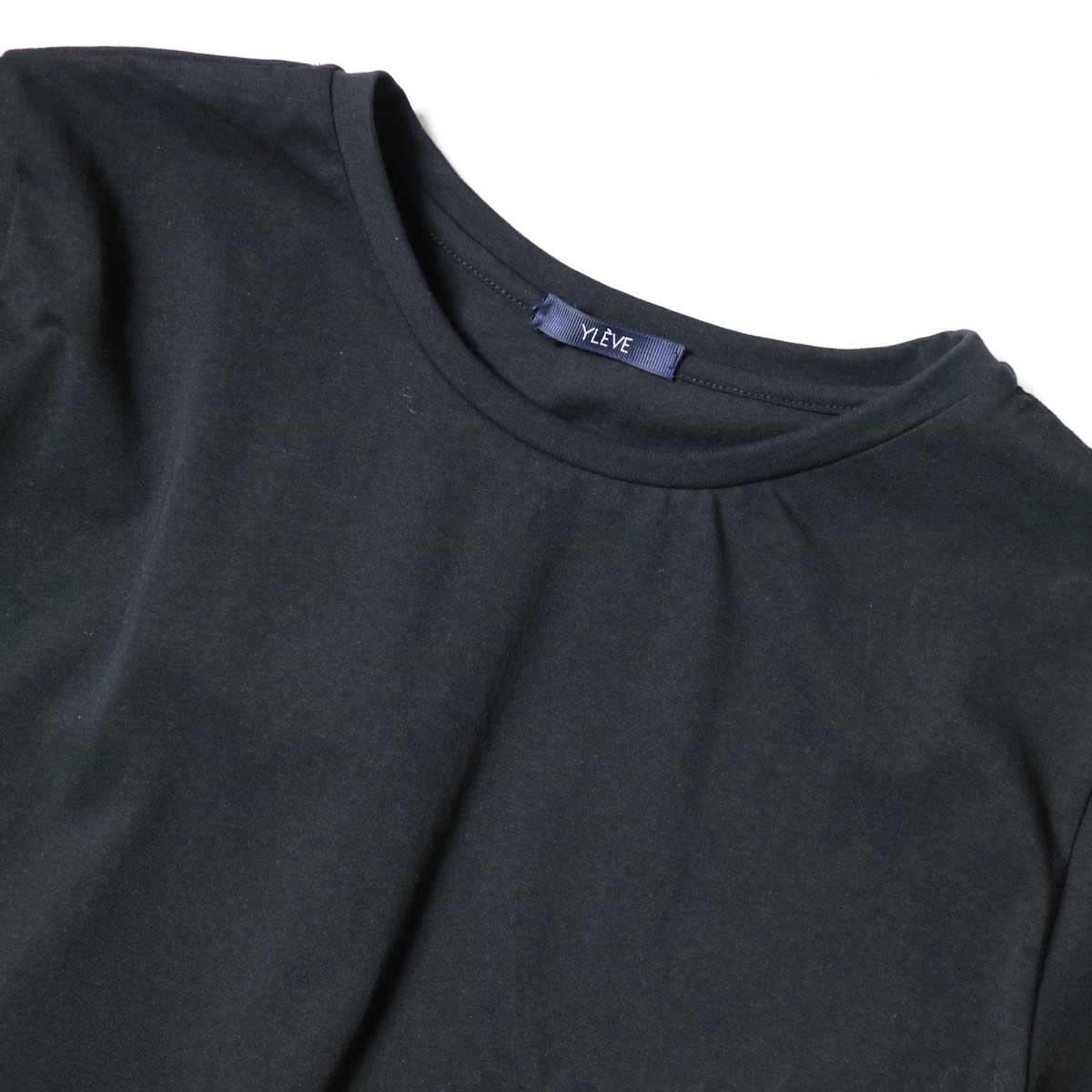 YLEVE / ORGANIC COTTON BIO S/S (Black) ネック
