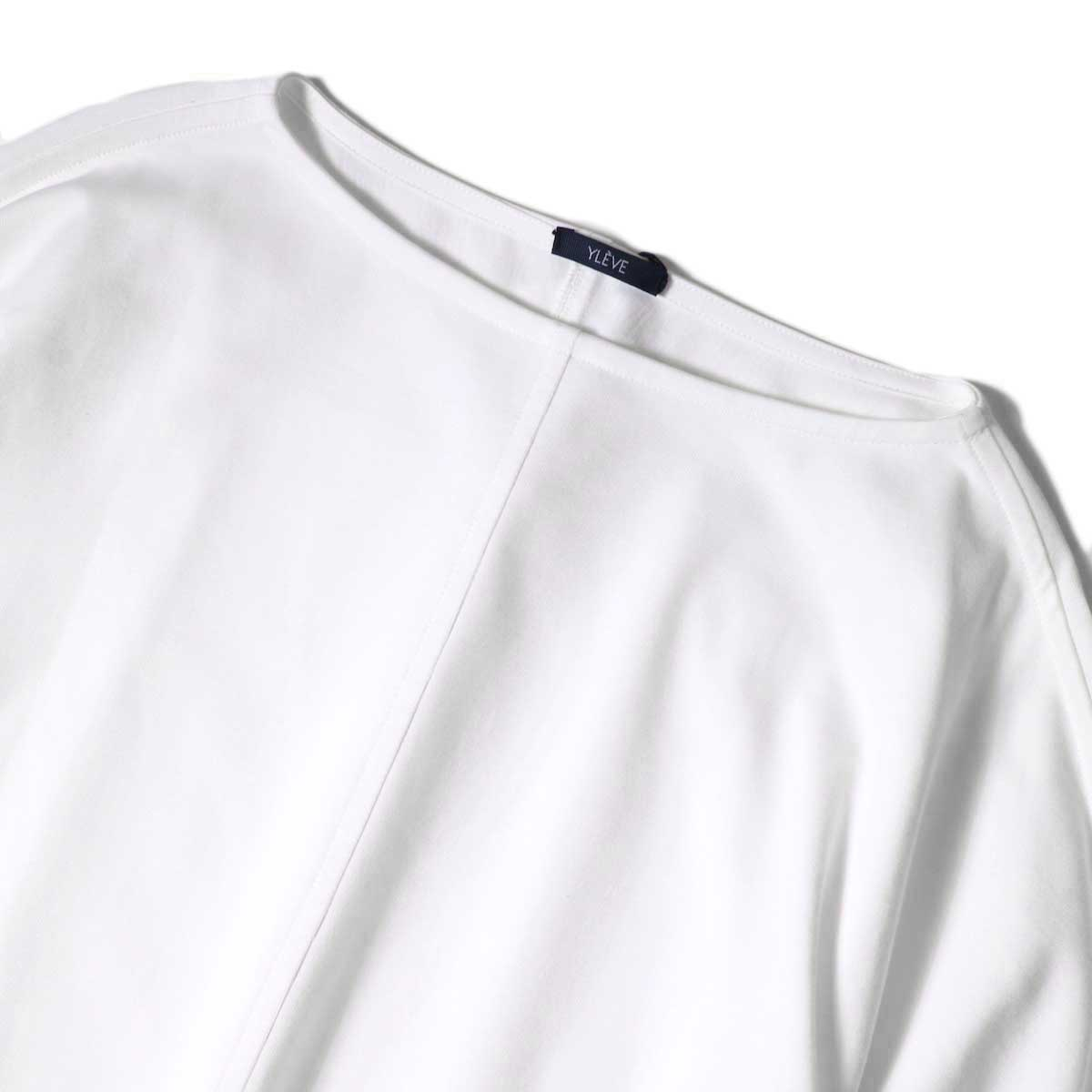 YLEVE / ORGANIC COTTON HIGH COUNT JERSEY OP (White) ネック