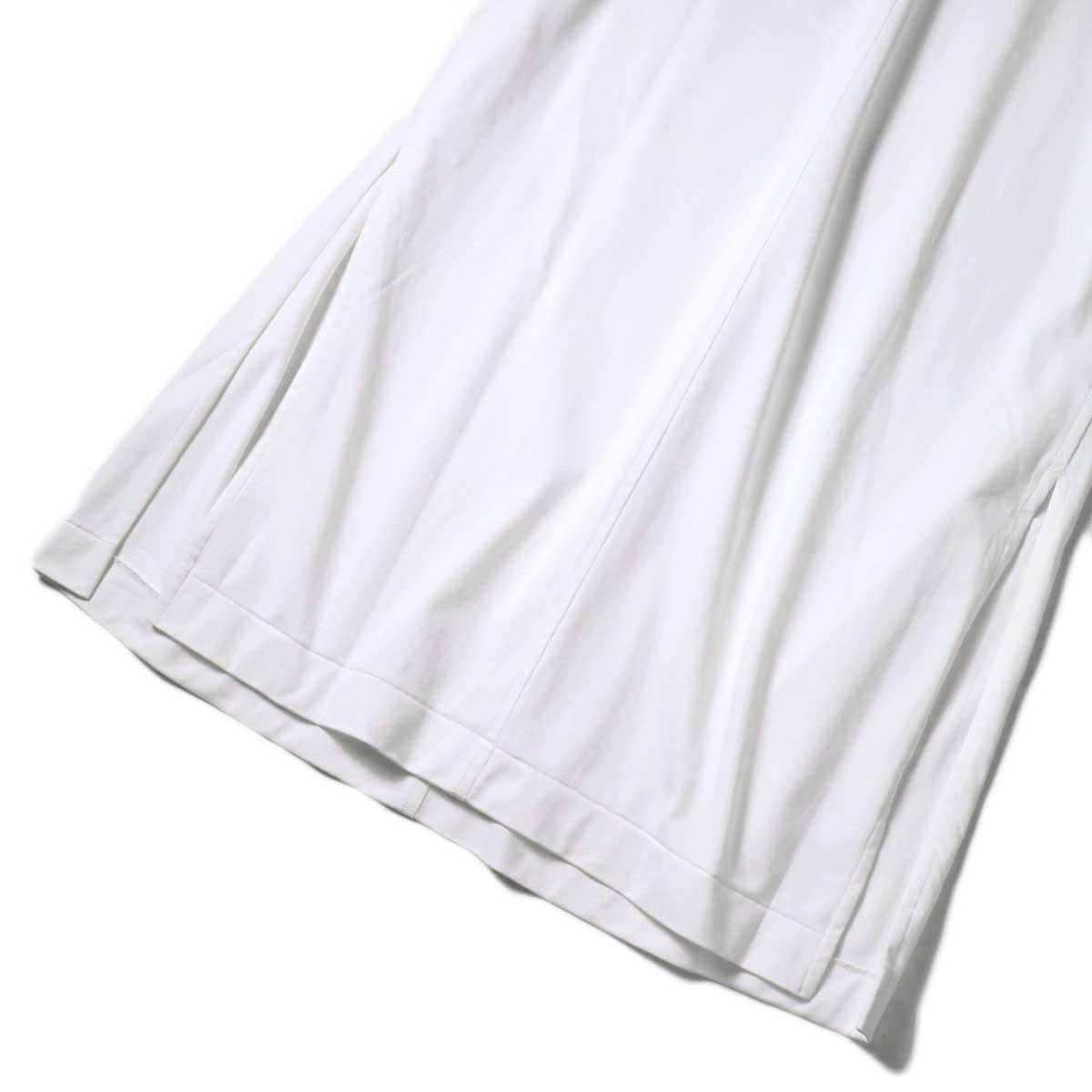 YLEVE / ORGANIC COTTON HIGH COUNT JERSEY OP (White) 裾・スリット