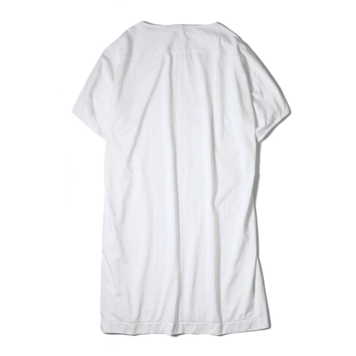 YLEVE / ORGANIC COTTON HIGH COUNT JERSEY OP (White) 背面