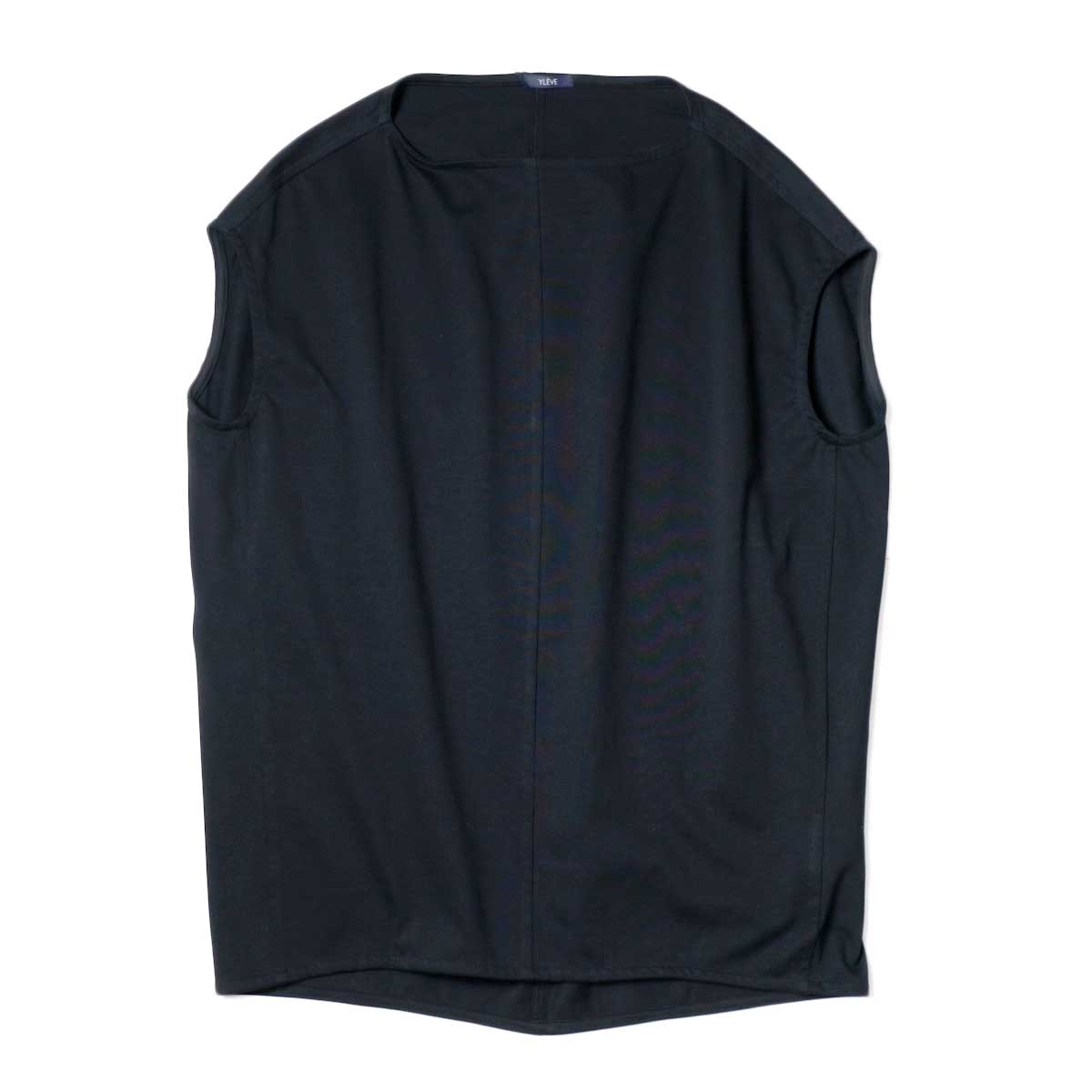 YLEVE / ORGANIC COTTON HIGH COUNT JERSEY N/S P/O (Black)