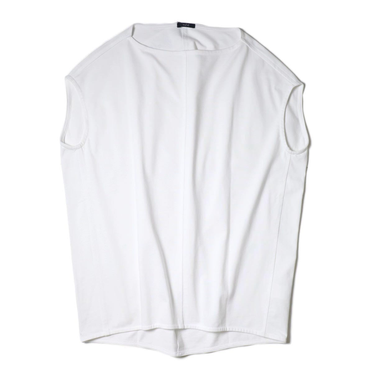 YLEVE / ORGANIC COTTON HIGH COUNT JERSEY N/S P/O (White)