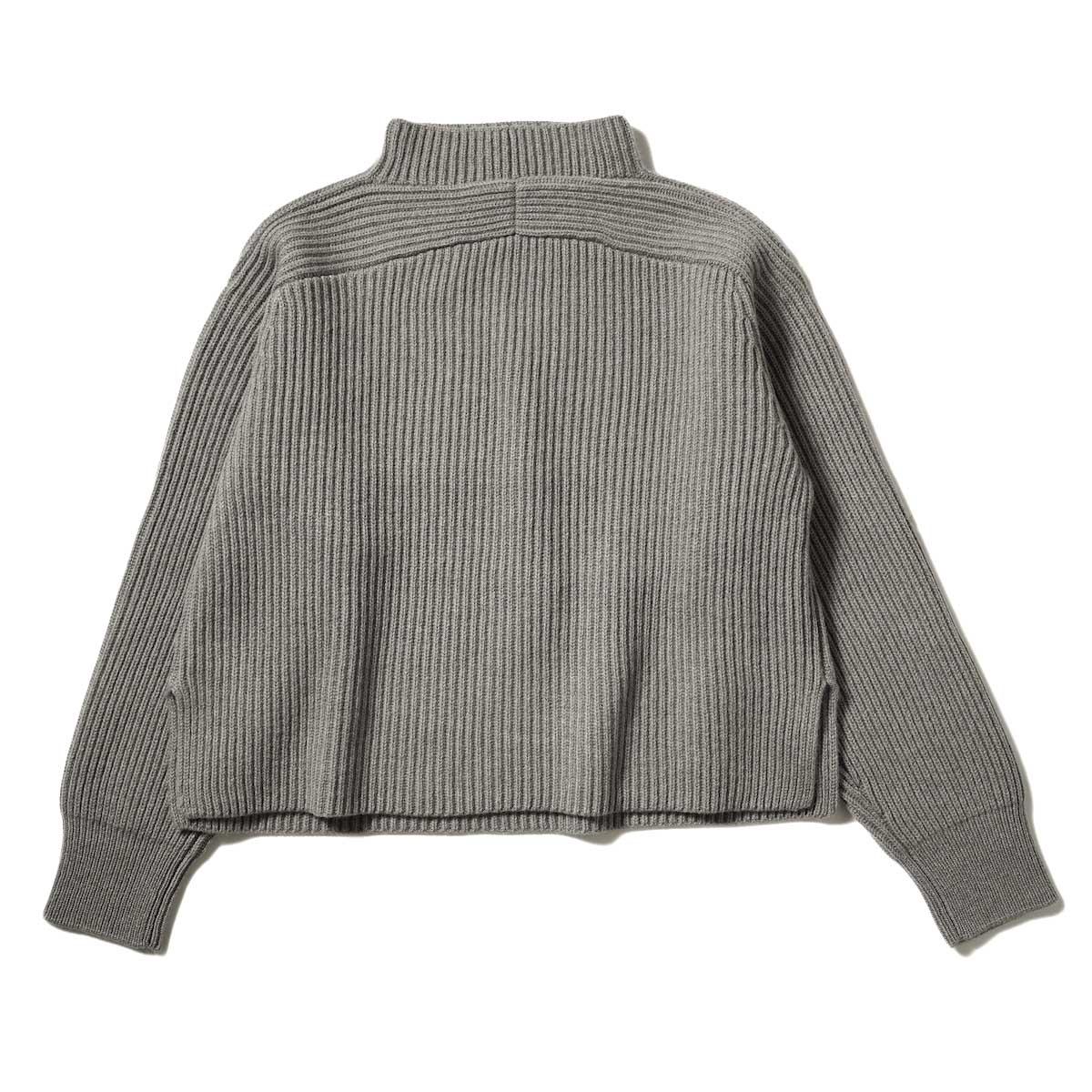 YLEVE / EX FINE MERINOWOOL KN P/O (Gray) 背面