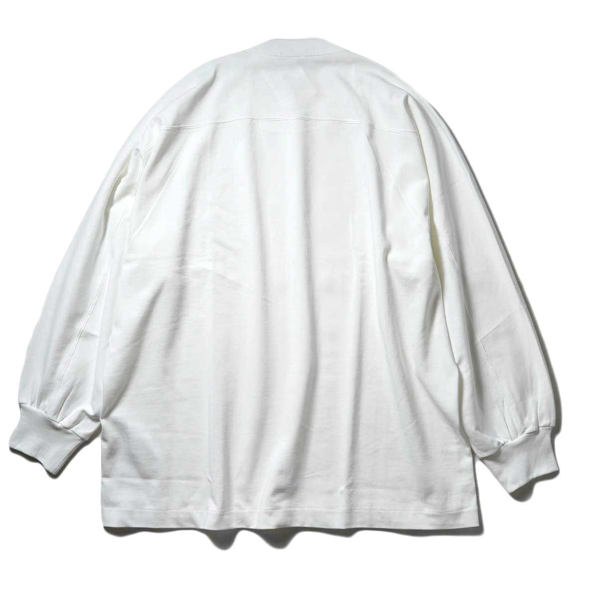 YLEVE / TWIST YARN COTTON BIG P/O (White) 背面