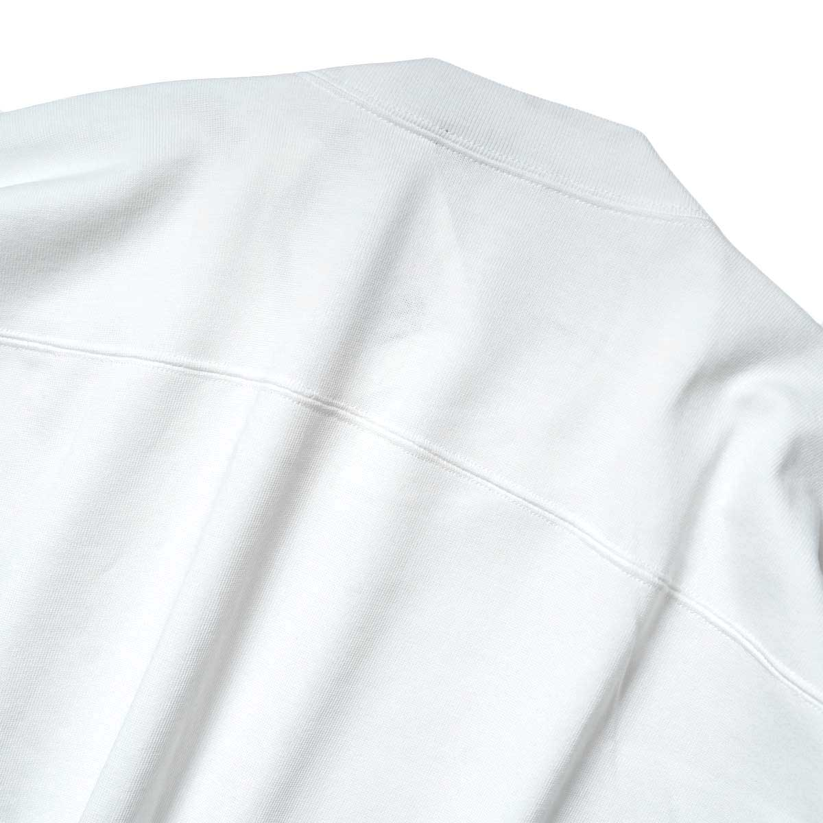 YLEVE / TWIST YARN COTTON BIG P/O (White) 背面アップ