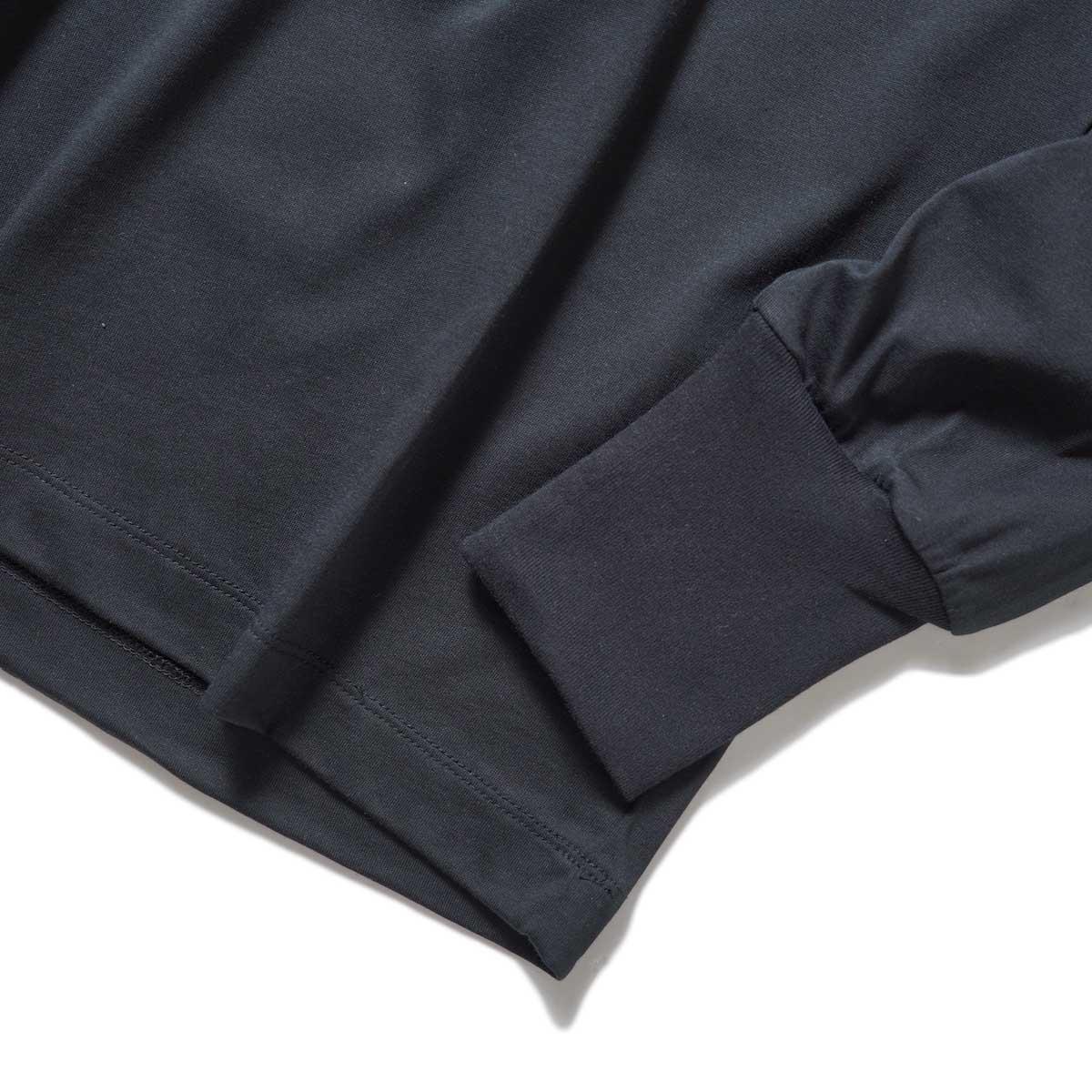 YLEVE / SOFT ORGANIC COTTON TURTLE (Black) 袖・裾